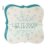 Snowy Christmas Personalized Pearlized Christmas Cards - 16154-D