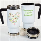 Heart Of Love Personalized Commuter Travel Mug - 16165