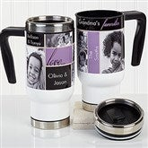 My Favorite Faces Personalized Photo Commuter Travel Mug - 16167