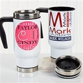 Your Stainless Steel Personalized Commuter Travel Mug - 16171