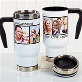 Picture Perfect Personalized Commuter Travel Mug- 4 Photos - 16172-4