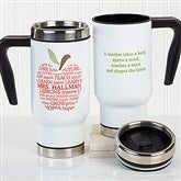 Apple Scroll Personalized Teacher Commuter Travel Mug - 16174