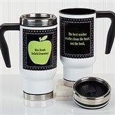 Teacher's Green Apple Personalized Commuter Travel Mug - 16179