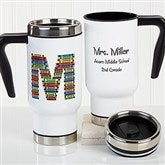 Crayon Letter Personalized Teacher Commuter Travel Mug - 16184