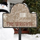 No Place Like Home Personalized Yard Stake - Yard Stake With Magnet - 16190-S