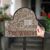 No Place Like Home Personalized Magnetic Garden Sign - 16190-M