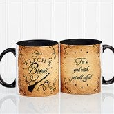 Witch's Brew Personalized Coffee Mug 11oz.- Black - 16200-B