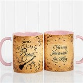 Witch's Brew Personalized Coffee Mug 11oz.- Pink - 16200-P