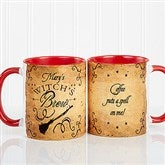 Witch's Brew Personalized Coffee Mug 11oz.- Red - 16200-R