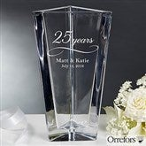 Orrefors Etched Crystal Anniversary Vase - 16202