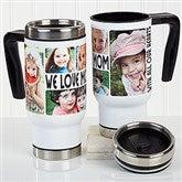 5 Photos Loving Message Personalized Commuter Travel Mug - 16206