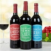 Holiday Cheer Personalized Wine Bottle Labels