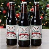 Holiday Brew Personalized Beer Bottle Labels - 16210