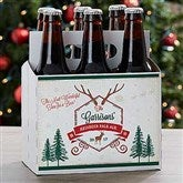 Holiday Brew Personalized Beer Bottle Carrier - 16210-C