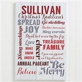Holiday Family Traditions Personalized Canvas Print - 12