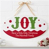 Jolly Jester Personalized Oval Wood Sign - 16214
