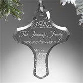 Grow In God's Love Personalized Family Cross Ornament - 16219