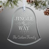 Jingle All The Way Personalized Bell Ornament - 16220