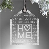 Home Is Love Personalized Ornament - 16222