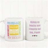 World's Best Mom Personalized Mug 11 oz.- White - 1623-S