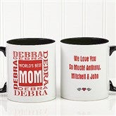 World's Best Mom Personalized Mug 11 oz.- Black - 1623-B