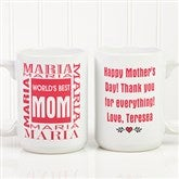 World's Best Mom Personalized Mug 15oz.- White - 1623-L