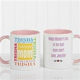 World's Best Mom Personalized Mug 11 oz.- Pink - 1623-P