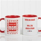 World's Best Mom Personalized Mug 11 oz.- Red - 1623-R