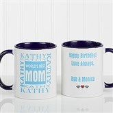 World's Best Mom Personalized Mug 11 oz.- Blue - 1623-BL