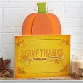 "18"" Tall -Give Thanks Personalized Pumpkin Tabletop Decor"