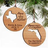 """State"" Of Love Personalized Wood Ornament"