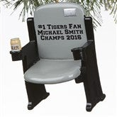 Stadium Seat Personalized 3D Sports Ornament- Grey - 16246-G