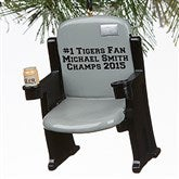 Stadium Seat Personalized 3D Sports Ornament- Grey