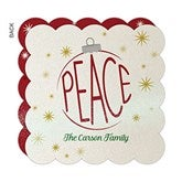 Ornamental Peace Personalized Pearlized Christmas Cards - 16247-D
