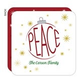 Ornamental Peace Personalized Christmas Cards - 16247