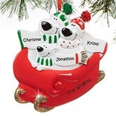 Polar Bear Family© Personalized Ornament- 3 Name - 16249-3