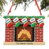 Fireplace Family© Personalized Ornament- 5 Name - 16250-5