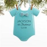 Baby Boy Bodysuit© Personalized Ornament - 16254