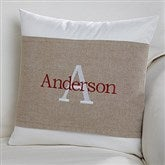 Initially Yours Personalized Throw Pillow with Wrap - 16256