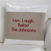 You Name It! Personalized Throw Pillow with Wrap - 16257