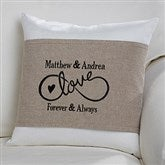 Warmhearted Wedding Personalized Throw Pillow with Wrap - 16258