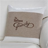 Family Is Forever Personalized Throw Pillow with Wrap - 16260