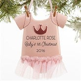 Baby Girl Bodysuit© Personalized Ornament - 16265