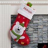 Santa Claus Lane Personalized Stocking-Polar Bear - 16275-PB