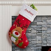 Santa Claus Lane Personalized Stocking-Reindeer - 16275-R