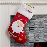 Santa Claus Lane Personalized Stocking-Santa