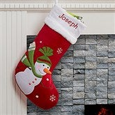 Santa Claus Lane Personalized Stocking-Snowman - 16275-SM