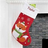 Santa Claus Lane Personalized Stocking-Fox - 16275-F