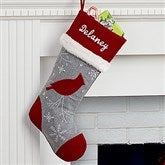 Cardinal Wintertime Wishes Personalized Christmas Stocking - 16280-C