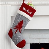 Tree Wintertime Wishes Personalized Christmas Stocking - 16280-T